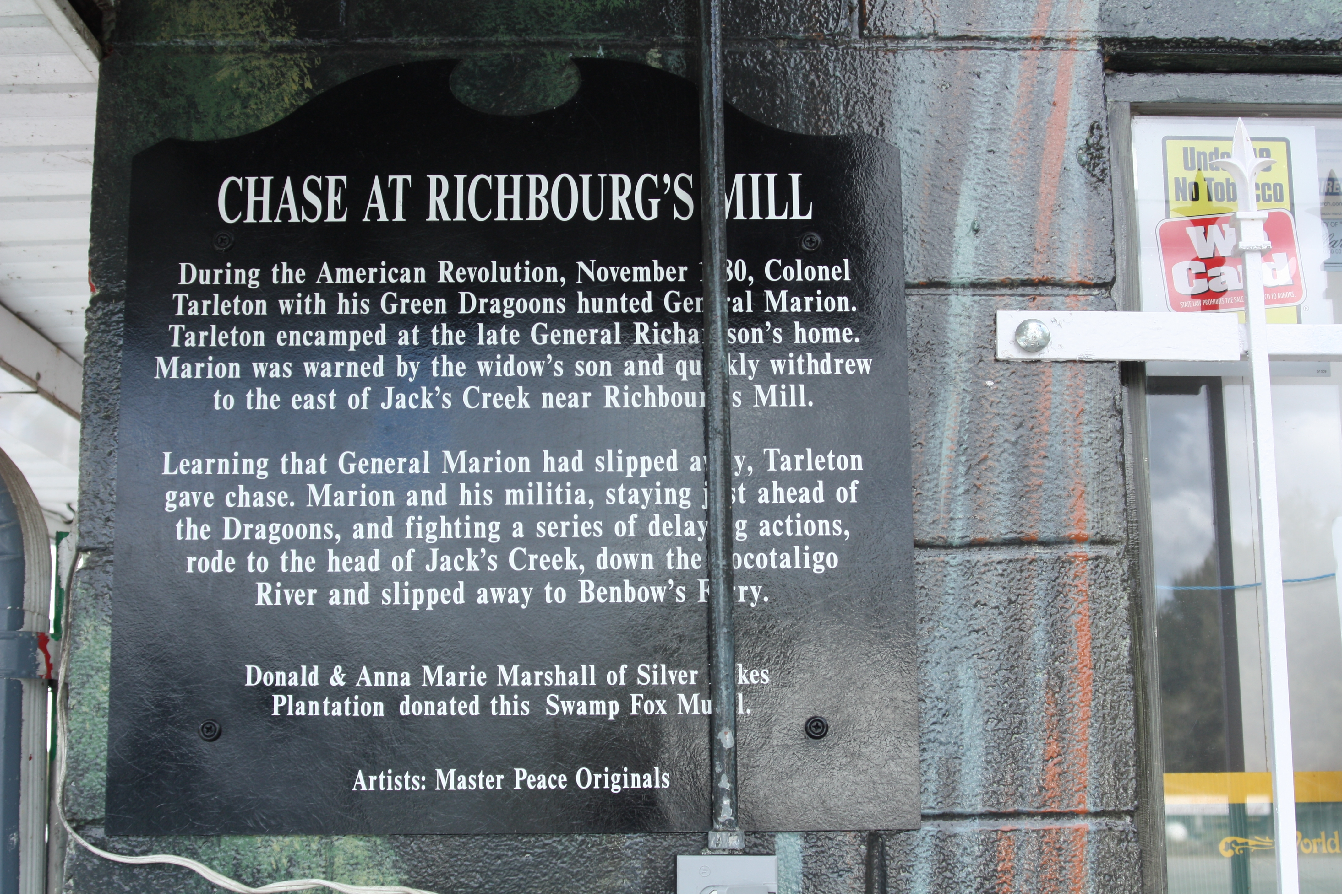 Chase At Richbourg's Mill Marker