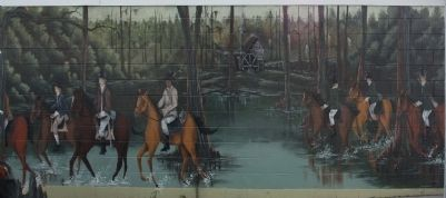 Chase At Richbourg's Mill , the Swamp Fox Murals Trails image. Click for full size.