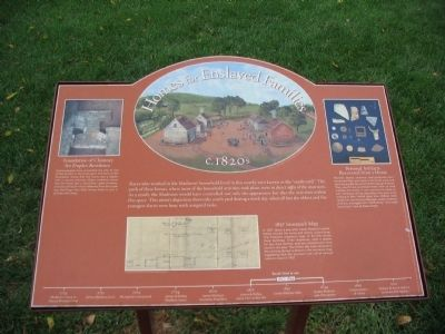 Homes for Enslaved Families Marker image. Click for full size.