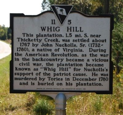 Whig Hill Marker image. Click for full size.