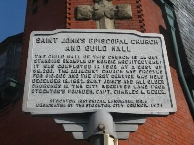 Saint John's Episcopal Church and Guild Hall Marker image. Click for full size.