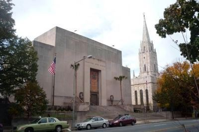 The Freemasons Scottish Rite Temple and the Unification Church National Cathedral, image. Click for full size.
