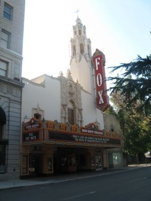 Historic Fox Theater (The Bob Hope Theater) Next Door to the California Building image. Click for full size.