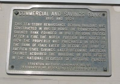 Commercial and Savings Bank Marker image. Click for full size.