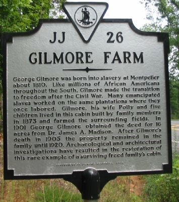 Gilmore Farm Marker image. Click for full size.