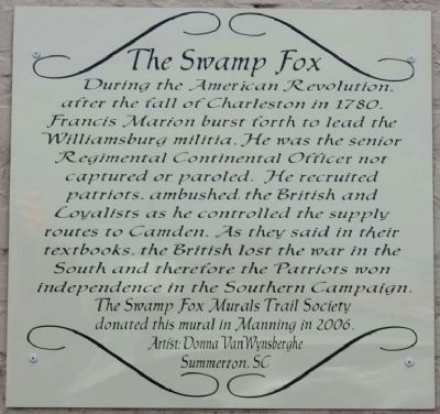 The Swamp Fox Marker image. Click for full size.