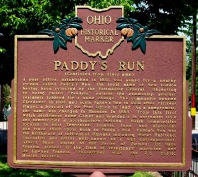 Paddy's Run Marker (Side B) Photo, Click for full size