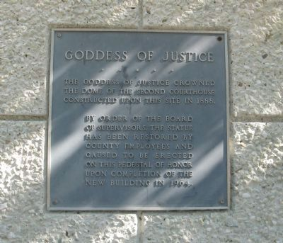 Goddess of Justice Marker image. Click for full size.