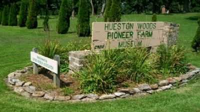 Hueston Woods Pioneer Farm Museum Sign image. Click for full size.
