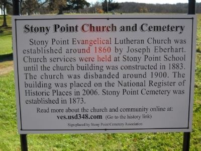 Stoney Point Church and Cemetery Marker image. Click for full size.