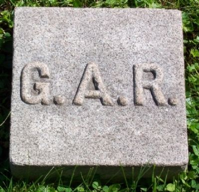 G.A.R. Burial Plot Boundary Marker image. Click for full size.