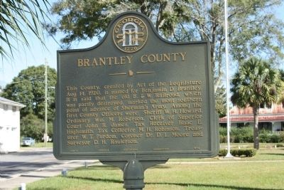 Brantley County Marker image. Click for full size.