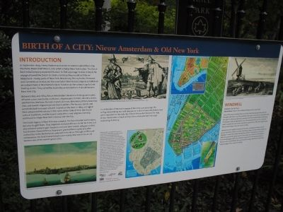 Birth of a City: Nieuw Amsterdam & Old New York Marker image. Click for full size.