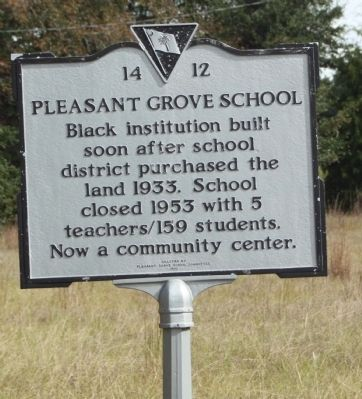 Pleasent Grove School Marker image. Click for full size.