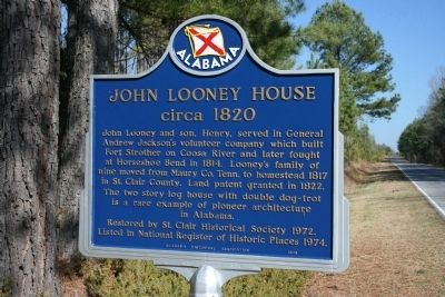 John Looney House Marker Photo, Click for full size