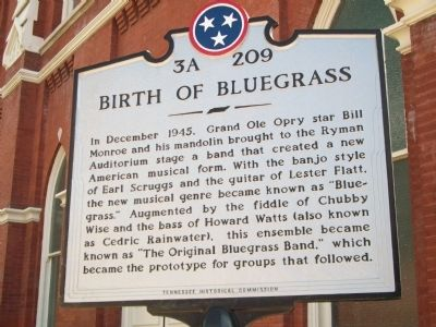 Birth of Bluegrass Marker image. Click for full size.
