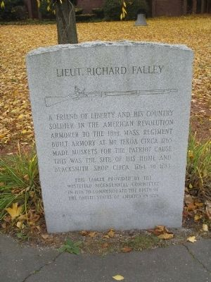 Lieut. Richard Falley Marker Photo, Click for full size