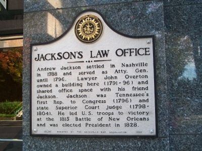 Jackson's Law Office Marker image. Click for full size.