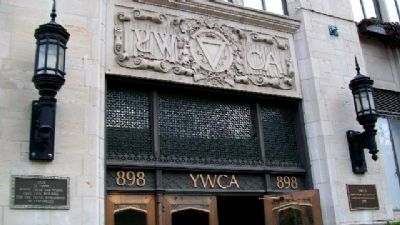 YWCA Entrance Detail image. Click for full size.