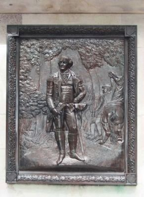Nathanael Greene Monument Relief image. Click for full size.