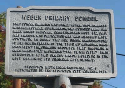 Weber Primary School Marker image. Click for full size.