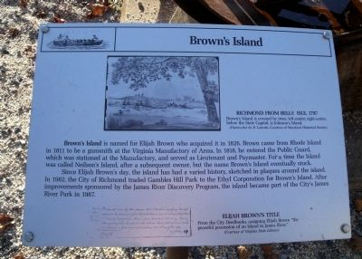 Brown's Island Marker image. Click for full size.