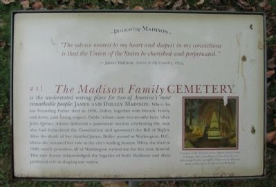 The Madison Family Cemetery Marker image. Click for full size.