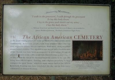 The African American Cemetery Marker image. Click for full size.