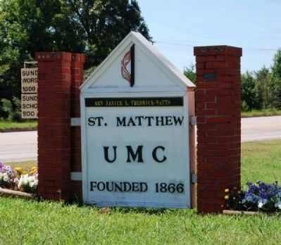 St. Matthew United Methodist Church Sign image. Click for full size.