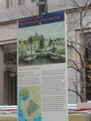 Stadt Huys (City Hall) Marker image. Click for full size.
