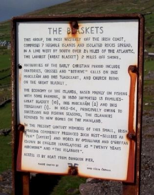 The Blaskets Marker image. Click for full size.
