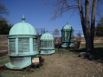 Cupolas from the Virginia State Penitentiary image. Click for full size.