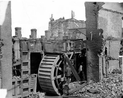 Ruins of State Arsenal (overshot waterwheel) image. Click for full size.