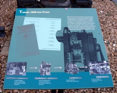 Toledo 1000-ton Press Marker image. Click for full size.