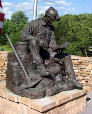 Quecreek Mine Accident Memorial Statue image. Click for full size.