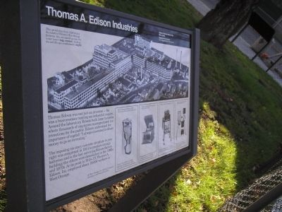 Thomas A. Edison Industries Marker image. Click for full size.