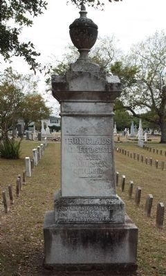 Defense of Charleston Harbor Marker, north face, - Ironclads image. Click for full size.