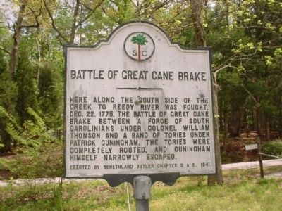 Battle of Great Cane Brake Marker Photo, Click for full size
