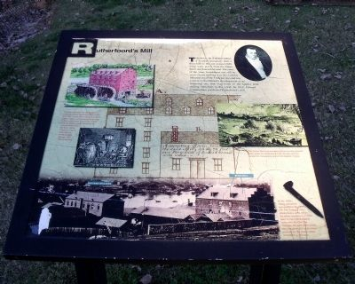 Rutherfoord's Mill Marker image. Click for full size.