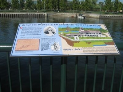 Charles Weber and the Founding of Stockton Marker image. Click for full size.