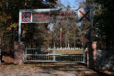 Shelby Springs Confederate Cemetery Photo, Click for full size