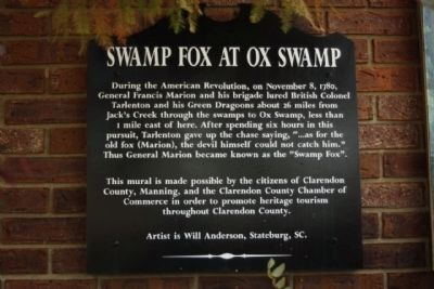 Swamp Fox at Ox Swamp Marker Photo, Click for full size