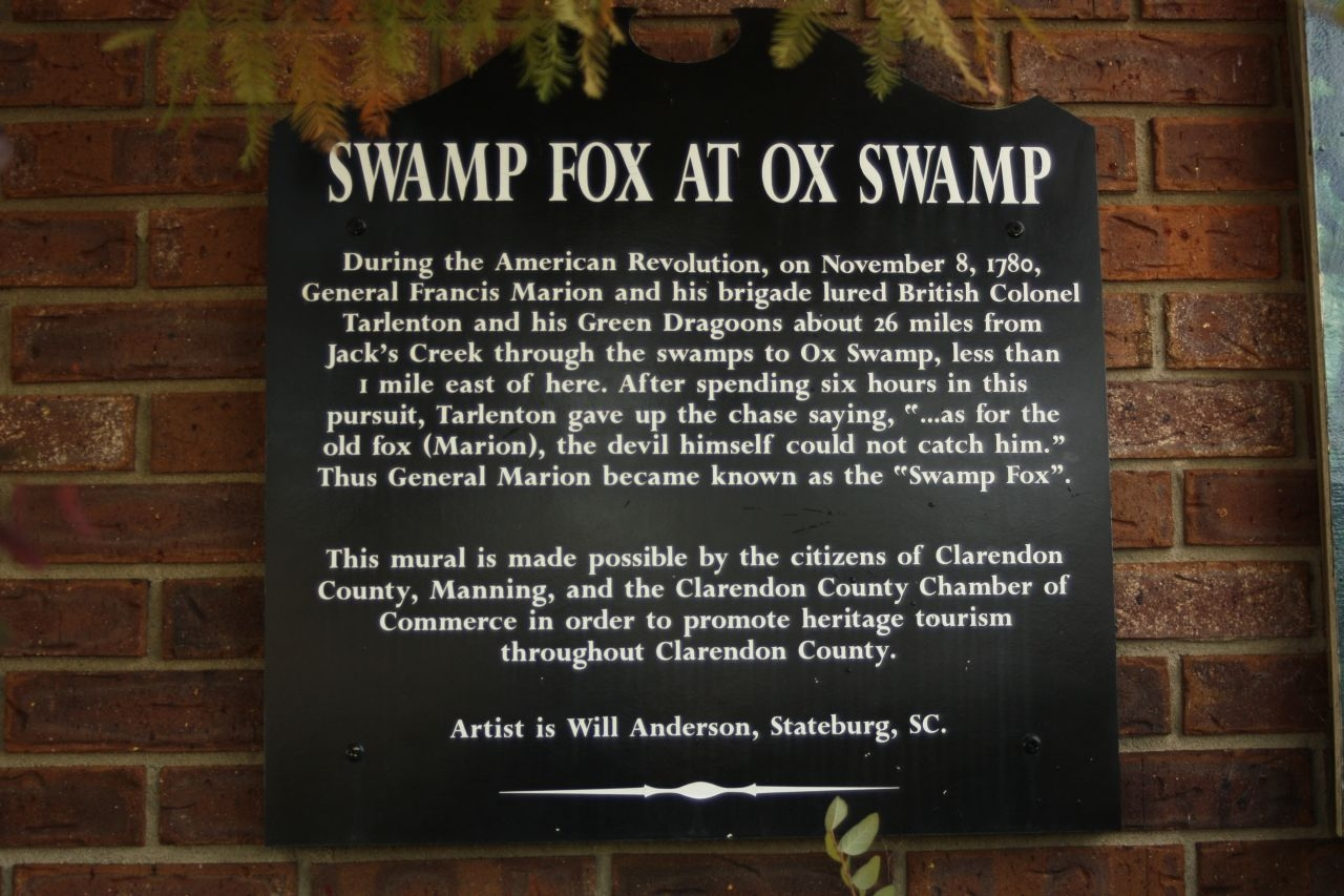 Swamp Fox at Ox Swamp Marker
