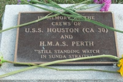 U.S.S. Houston and H.M.A.S. Perth Marker Photo, Click for full size
