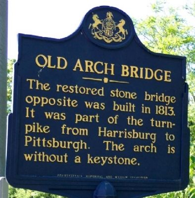 Old Arch Bridge Marker image. Click for full size.