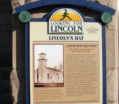 Top Section - - Lincoln's Hat Marker image. Click for full size.