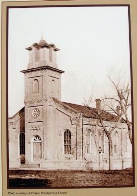 Close-up Photo - - 1859 Clinton Presbyterian Church Building image. Click for full size.