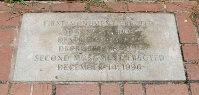 Abbeville County Confederate Monument - East Footstone Photo, Click for full size