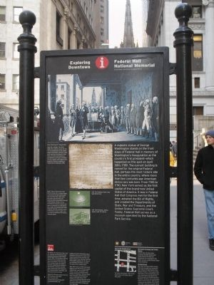 Federal Hall National Memorial Marker image. Click for full size.