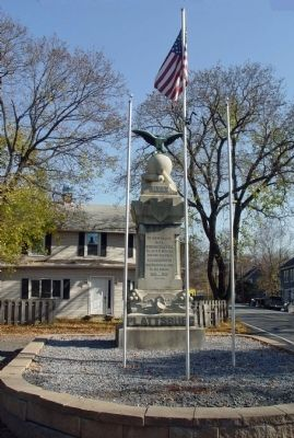 Blooming Grove War Monument Marker, west face image. Click for full size.